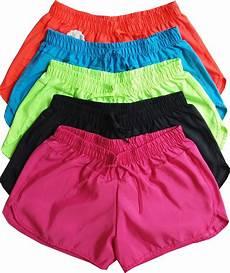 shorts feminino kit 5 shorts feminino tactel liso academia corrida