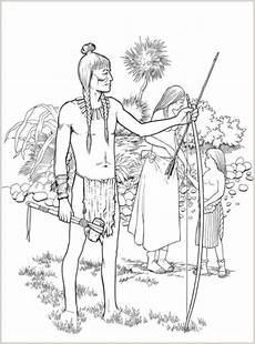 malvorlagen zum drucken ausmalbild indianer kostenlos 4
