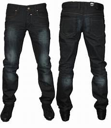 Mens Fit Designer Jeans Uk New Mens Dark Eto Em64 Designer Straight Leg Tapered Fit