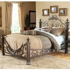 baroque iron bed ornate design glided slate finish