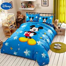 blue disney mickey mouse 3d print bedding set for
