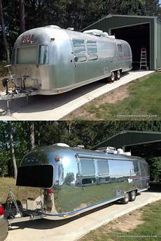 1978 airstream sovereign before and after polishing by