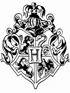 Harry Potter Wappen Malvorlagen Doodlecraft Hogwarts Crest Rubber St Diy
