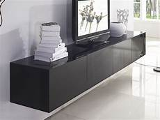 2 4m majeston black floating tv cabinet