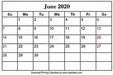 June 2020 Calendar With Holidays June 2020 Blank Calendar Printable Free Download With