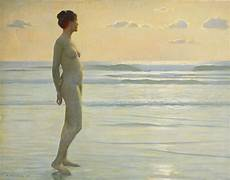 frauen am strand of the evening the of max nonnenbruch