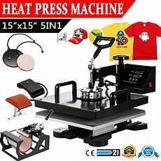 clothes printer press machine 15 x15 quot 5in1 heat press transfer printing machine swing