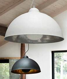 Pendant Reflector Light Large Ceiling Pendant In Two Colours With A Wire