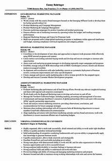 Regional Manager Resume Examples Regional Marketing Manager Resume Samples Velvet Jobs