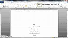 Apa Template Doc How To Format A Word Doc For Writing An Apa Style College