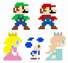 Pixelated Mario Characters Mario 3d World Pixel Characters By Greenmachine987