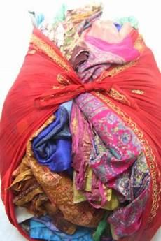 fabric crafts recycled recycled used silk sari fabric for fiber arts saree
