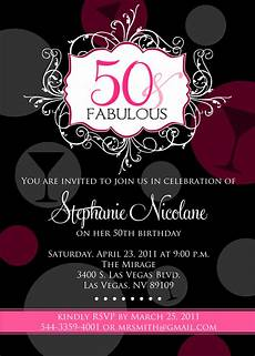 50th Birthday Party Invitation Template Signatures By Fabulous 50th Birthday Party