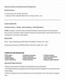 Retail Sales Associate Resume No Experience 7 Sales Associate Resume Templates Pdf Doc Free