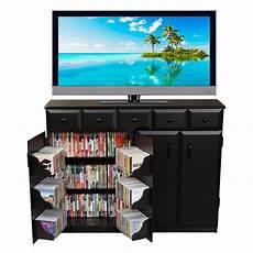 venture horizon media cabinet with drawers black