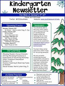 Examples Of Newsletters For Parents From Teachers 11 Kindergarten Newsletter Templates Free Samples