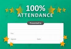 100 Attendance Certificate Template 100 Attendance Certificate For Powerpoint