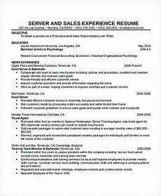 Cv For A Waitress Cocktail Waitress Resume Hotel And Restaurant Management