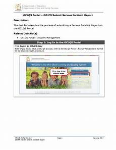 Odjfs Incident Report Serious Incident Report Template Fill Print Amp Download