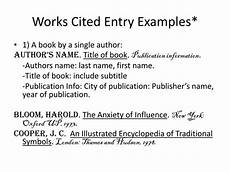Work Cited Entry Ppt Citations Powerpoint Presentation Id 1728682