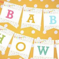 Baby Shower Banner Unisex Sprinkle Baby Shower Banner For A Girl Or Boy