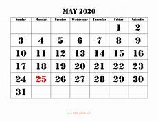Large 2020 Calendars Printable May Calendar 2020 With Design Example Calendar