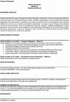 Cv Personal Statement Examples Finance Finance Manager Cv Example Lettercv Com