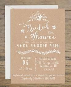 kraft bridal shower invitation bridal shower invitations
