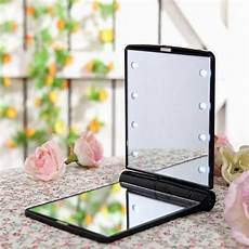 Hand Mirror With Lights Sale 4 Colors Girls Makeup Mirror With 8 Led Light