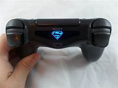 Does The Crystal Ps4 Controller Light Up Playstation 4 Ps4 Controller Superman Lightbar Decal Led