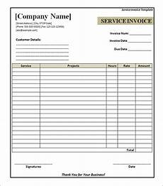 Free Printable Invoice Pdf Free 32 Printable Service Invoice Templates In Google