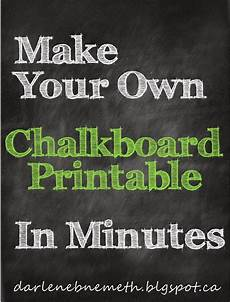 Chalkboard Template For Word Make A Chalkboard Printable In Minutes Chalkboard