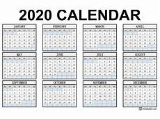 2020 Calendar Free Download Free Printable 2020 Calendar 123calendars Com