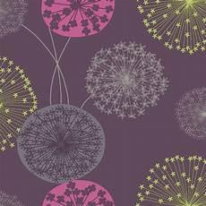 Flower Wallpaper Metallic by Floral Flower Wallpaper Firework Modern Lucienne Plum Pink