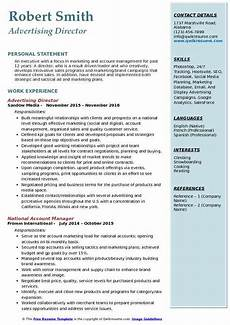 Advertising Sales Resume Samples Advertising Director Resume Samples Qwikresume