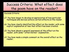 Poetry Success Criteria Lesson Ppt Trenches