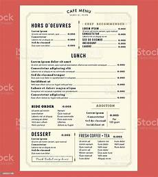 Free Menu Layout Menu Design Template Layout Restaurant Cafe Vintage Style