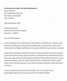 Introduction Letters For Jobs 7 Letter Of Introduction For Job Free Word Pdf