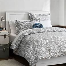 Light Grey Textured Duvet Cover Urban Ikat Duvet Cover Sham Light Grey Pbteen Reese