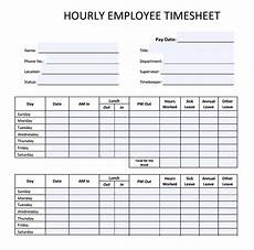 Employee Time Sheets Template 23 Employee Timesheet Templates Free Sample Example