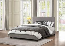 chasin grey fabric platform bed from homelegance
