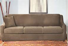 Sofa Seat Slipcover 3d Image by Stretch Pique Four 3 Seat Sleeper Sofa Slipcover