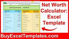 Net Worth Excel Net Worth Calculator Excel Spreadsheet How To Calculate