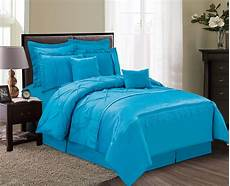 12 aubree pinched pleat blue bed in a bag set