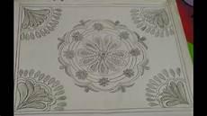 Nakshi Kantha Design Floral Nakshi Kantha Design Tutorial Step By Step For
