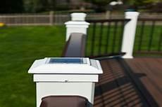 Trex Deck Post Solar Lights Trex 174 Deck With Solar Post Cap Lights Libertyville Rock