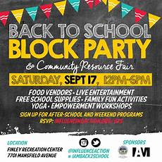 School Event Flyer Meet Us Uptown On September 17th Iam Back To School Block