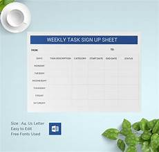 Weekly Sign Up Sheet Sign Up Sheets 64 Free Word Excel Pdf Documents