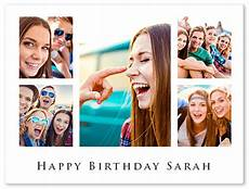 collage birthday card template birthday photo collage free templates for up to 100 photos