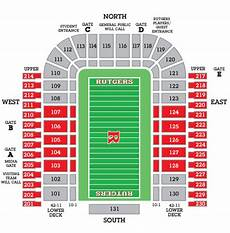 Rutgers Football Seating Chart Big Ten Football Stadium Seating Charts College Gridirons